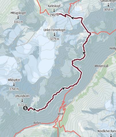 Map / Ötztal Trek Stage 17