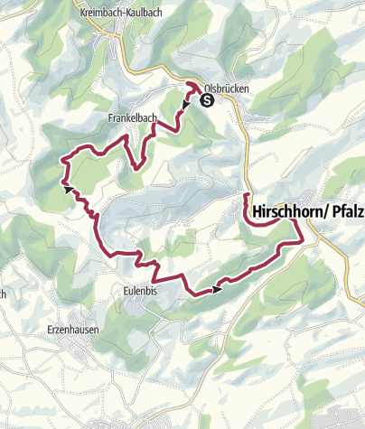 Karte / Teufelstour - Olsbrücken
