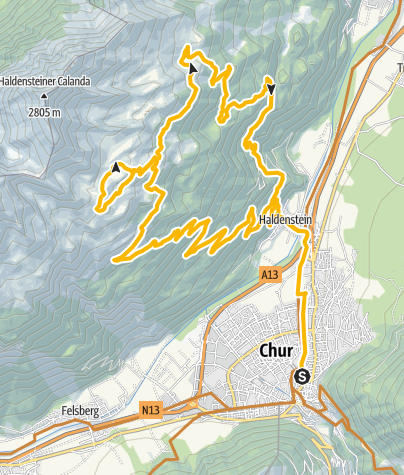 Karte / Calandahütte - Vazer Alp