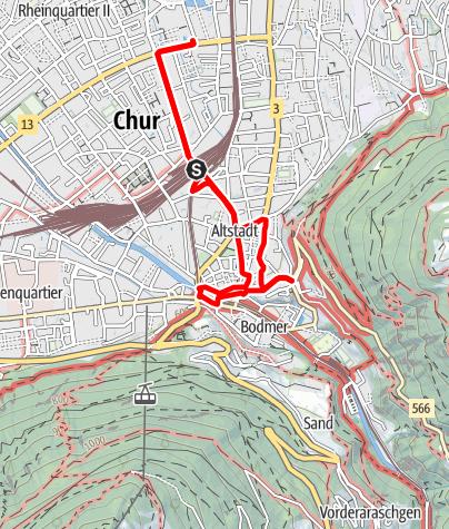 Karte / Rundgang durch die Alpenstadt