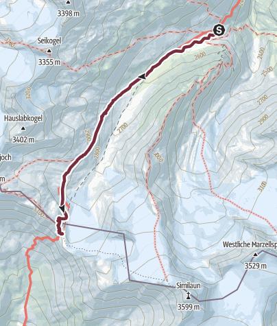 Map / Ötztal Trek Stage 12