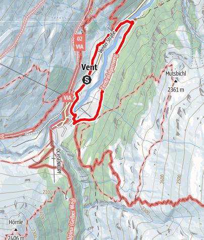 Map / Winterhiking Vent