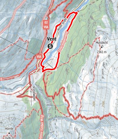 Karte / Winterwanderweg Vent