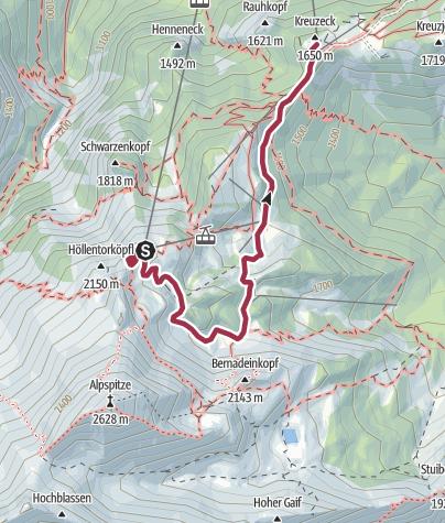 Karte / AlpspiX und Erlebniswege