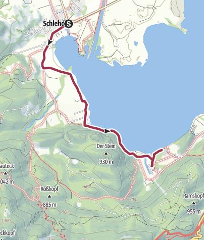 Karte / Felsenweg am Kochelsee