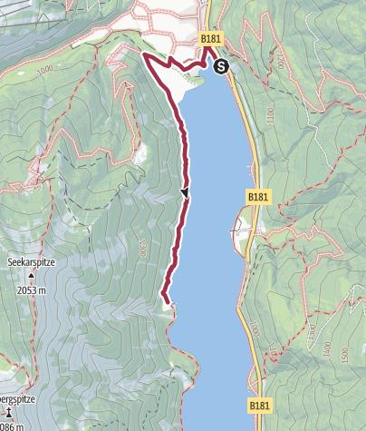 Karte / Auf dem Gaisalmsteig