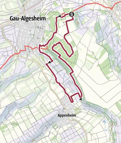 Map / Hiwweltour Bismarckturm