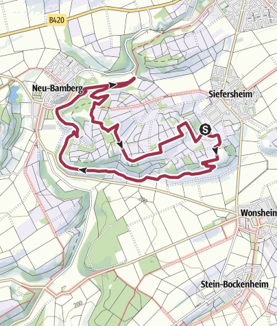 Karte / Hiwweltour Heideblick
