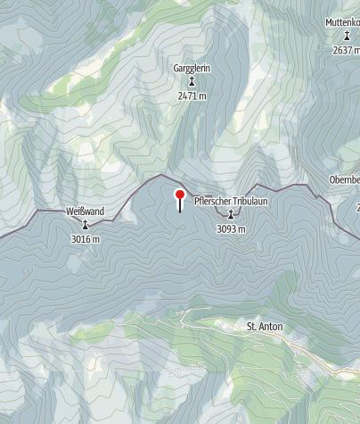 Karte / Tribulaunhütte (Rif. Calciati al Tribulaun)