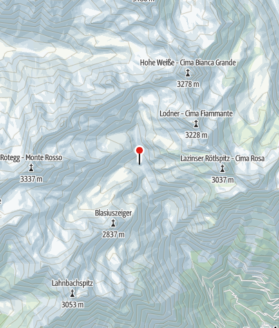 Karte / Lodnerhütte (Rif. Cima Fiammante)