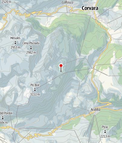 Karte / Franz Kostner Hütte (Rif. Franz Kostner al Vallon)