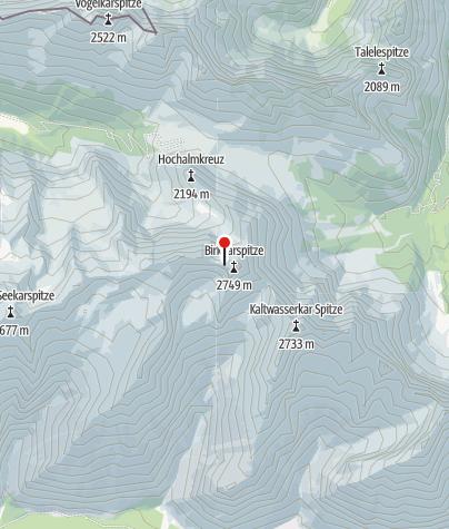 Karte / Birkkarhütte