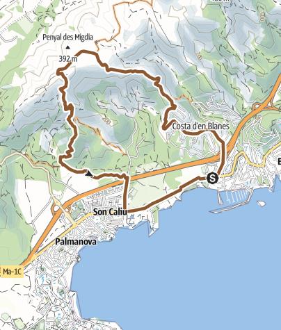 Mapa / Freeride en el Coll des Juscons - Serra de na Burguesa