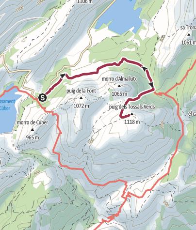 Mapa / A la cima del Tossals Verds