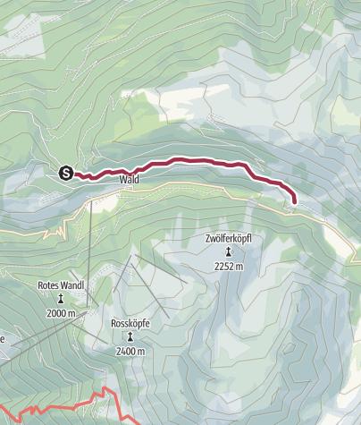 Map / Almhof Mareil over Sattele