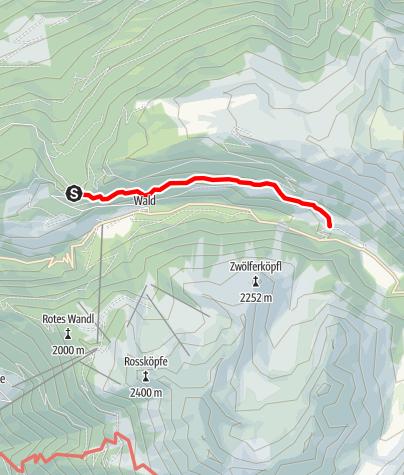 Karte / Almhof Mareil über Sattele