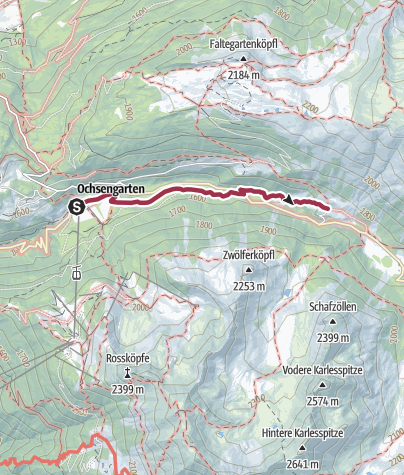 Map / Almhof Mareil from Ochsengarten