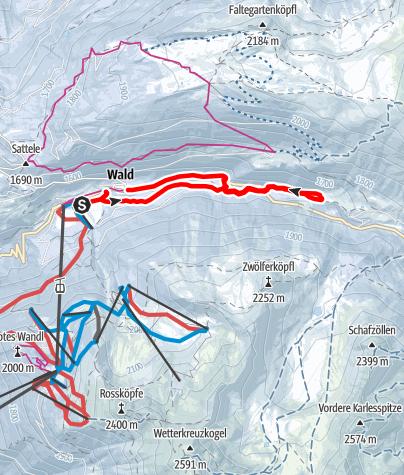 Karte / Loipe Ochsengarten