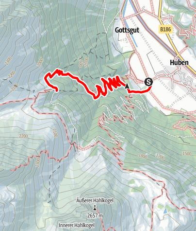 Map / Breitlehnalm - Längenfeld/Huben