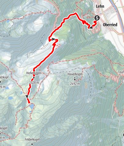 Karte / Stablealm - Hauerseehütte