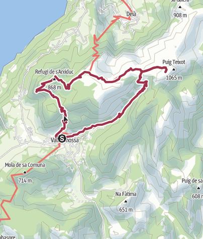 Karte / In den Bergen über Valldemossa