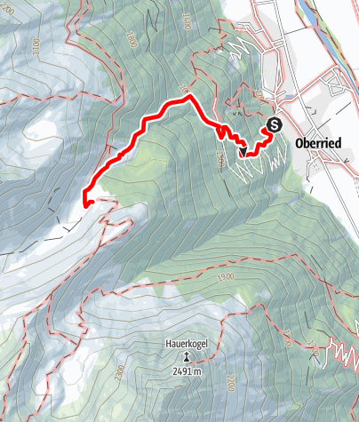 Karte / Innerbergalm - Längenfeld