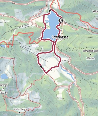 Karte / Um den Spitzingsee