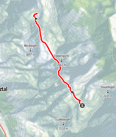 Map / Ötztal Trek Stage 20