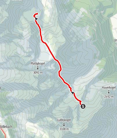 Karte / Ötztal Trek Etappe 20