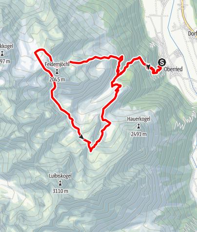 Karte / Vier Seen Weg - Längenfeld