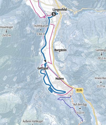Map / Cross-Country Track Süd (Skating) - Längenfeld