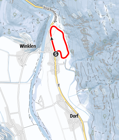Map / Cross-Country Track Au (classic and skating)- Längenfeld
