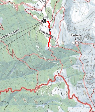 Karte / Zustieg Bielefelder Hütte von Hochoetz