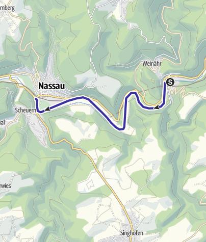 Karte / Bootsfahrt durch die Zeit – Mit dem Kanu auf der Lahn