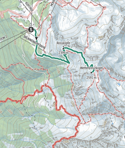 Map / Wetterkreuz peak