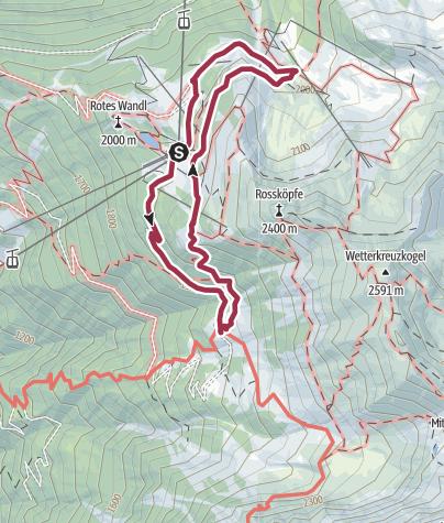Map / Hut tour Hochoetz