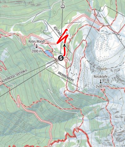 Karte / Kühtaile Alm