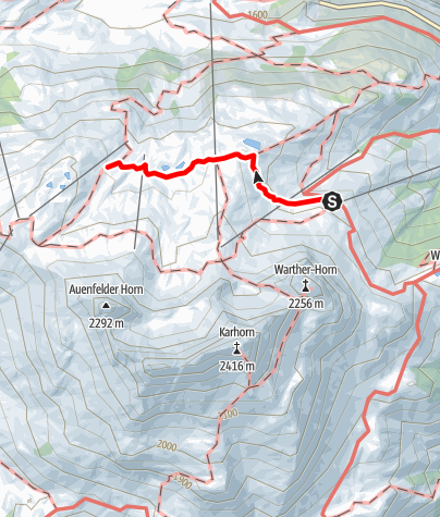 Karte / Von der Bergstation Steffisalp zur Hochalphütte