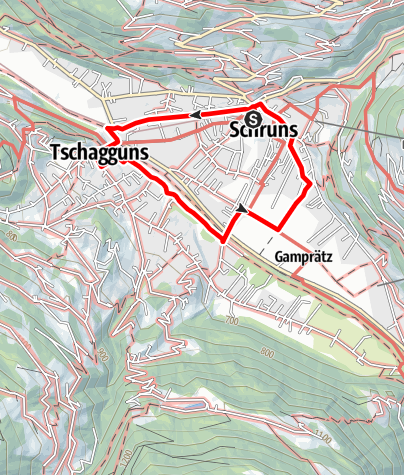 Karte / Kinderwanderweg Schruns-Tschagguns