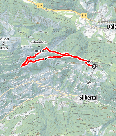 Karte / Kristberg - Falla