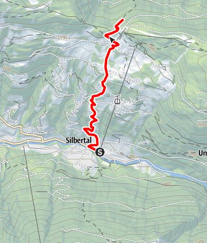 Karte / Berglauf - Silbertal - Kristberg
