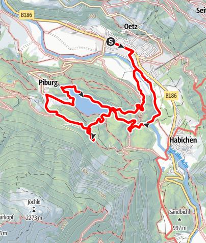 Karte / Wasserläufer Piburger See