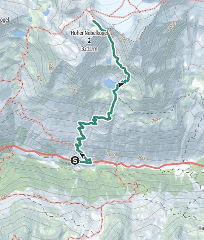 Map / Hochstubaihütte 3175  über Seekarsee & Himmelsleiter - Sölden