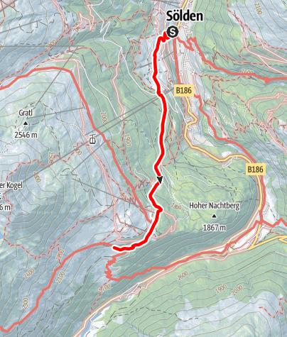 Karte / Gaislachalm - Sölden