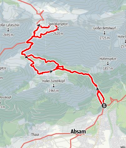 Karte / Speckkarspitze