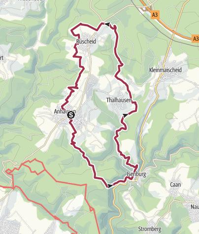 Karte / Wäller Tour Iserbachschleife