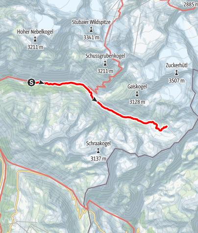 Map / Siegerlandhütte - Sölden
