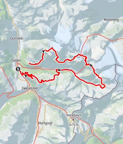 Karte / Hüttentour Windachtal