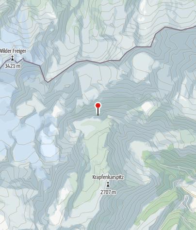 Karte / Grohmannhütte (Rif. Vedretta Piana)