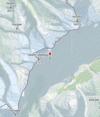 מפה / Zwickauer Hütte (Rif. Plan)